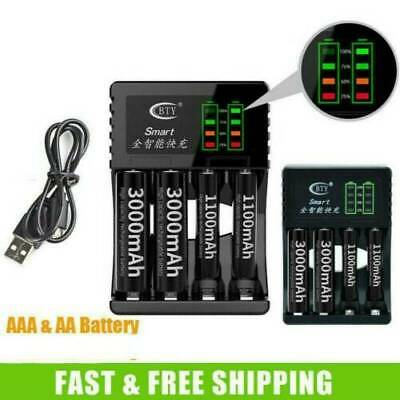 Smart Fast Led Aa/Aaa Charger 4 Ports Duracell Rechargeable Batteries
