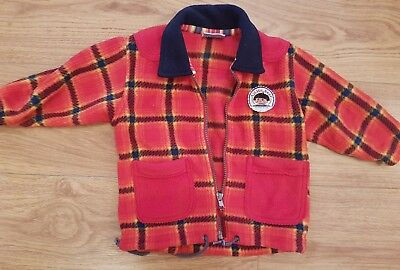 childs true vintage LEGO BRANDED plaid check fleece age 9 12 months 1970s 1980s