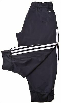 ADIDAS Girls Capri Tracksuit Trousers 15-16 Years Large Black Polyester  GW04