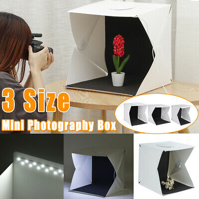 Mini Portable Photography Box Folding Photo Studio LED Light Shoot Tent