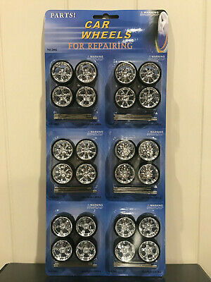 1:24 Scale Diecast Wheels and tyres with axles billet rims to suit model cars