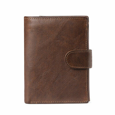 New Leather Wallet Mens RFID Slim Purse Trifold Wallet Credit Card ID Holder UK