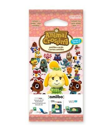 NEW Animal Crossing: Happy Home Designer Amiibo Cards Pack - Series 4 - 1 Pack