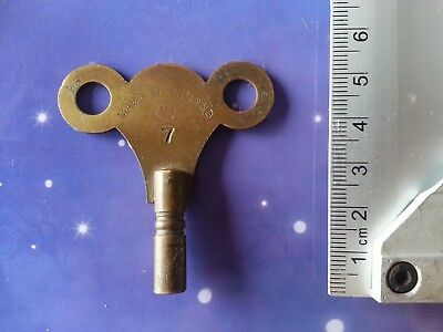Size 6 Antique Vintage Clock Winding Key Mantle Grandfather Retro Steampunk