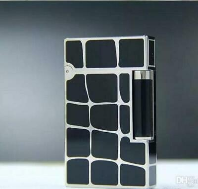S T Dupont Cigar Lighter Ligne 2 Chinese Black Lacquer Cling Sound Black&Silver