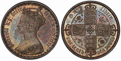 BRITAIN Victoria  1870 AR Florin, Two Shillings. PCGS MS64. S-3893; ESC 2870.