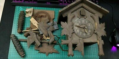 Vintage Black Forest  Cuckoo Clock Bellows / Weights Spares Repairs Project