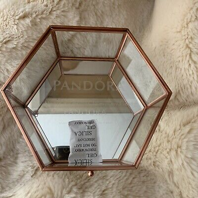 "Pandora Glass Curio Jewelry Box ""Always My Mother Forever My Friend"""