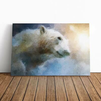 MYSTICAL LOVE POLAR BEAR ABSTRACT CANVAS WALL ART PICTURE LARGE AZ431 X  MATAGA