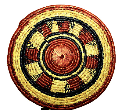 Tray Hand Woven Serving Coiled Vintage Large Decor Serving Antique AFRICAN AKAN