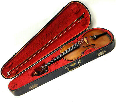 Old Antique FRENCH 4/4 Full Size Violin ECOLE GRANDINI