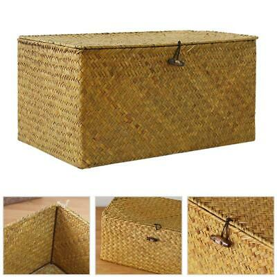 woven seagrass baskets with handles decorative storage boxes.htm 3 piece storage basket  brown woven storage containers  small  woven storage containers
