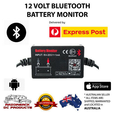 12V Bluetooth Battery Monitor 4.0 Volt Meter/Tester with Alarm BM2 Express Post