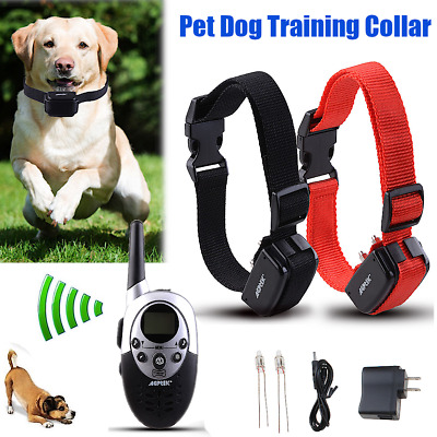 1000Yard Electric Dog Shock Collar Remote Training Rechargeable Waterproof 2 Dog