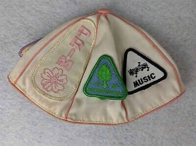Vintage Handmade Children's Cap with Patches