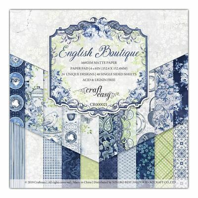 "Craft Easy - English Boutique - 6 x 6""Paper Pad (Cr000021)"
