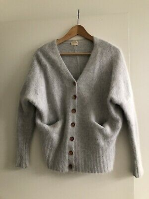 Nwt Michelle by Comune Gorman Charcoal LS French Terry Hoodie Women/'s Cardigan