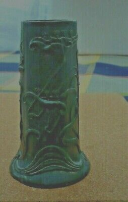 "ANTIQUE ART NOUVEAU PEWTER VASE 5"" High Makers mark to base"