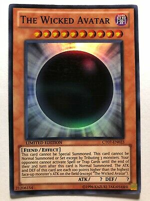 Yugioh The Wicked Avatar Super Rare Limited Edition CT07-EN023 3 Available