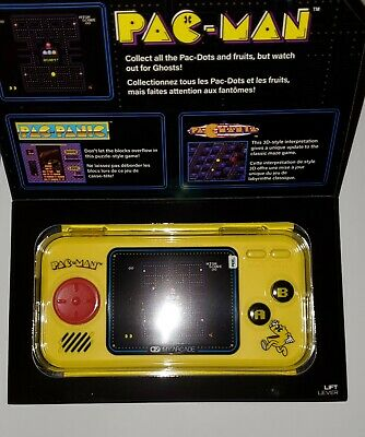 My Arcade Pac-Man Pocket Player Portable Gaming System 3 Games Pac-Mania New!!