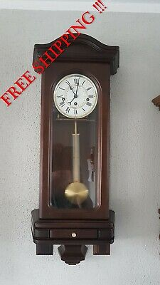 0292 - RARE German Hermle Westminster chime wall clock with calendar