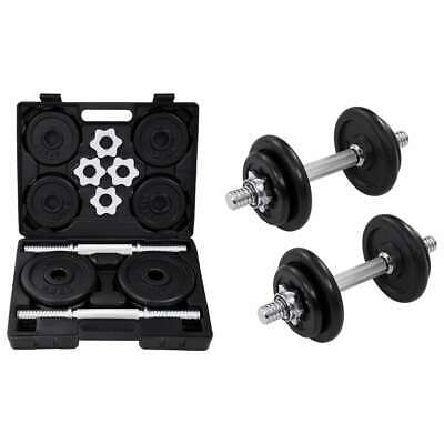 15/20 KG Adjustable Cast Iron Dumbbell / Barbell Set For Weight Lifting Training