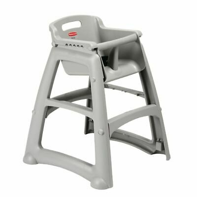 Rubbermaid Sturdy Stacking High Chairs in Platinum Easy to Clean - 756x597x597mm