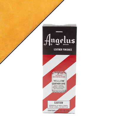 C--075 Angelus Permanent Leather Dye With Applicator 3Oz Yellow
