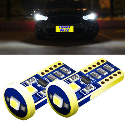 Renault Clio MK1 White LED Superlux Side Light Beam Bulbs Pair Upgrade