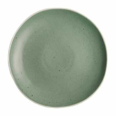 Pack of 6 Olympia Chia Plates Green Porcelain