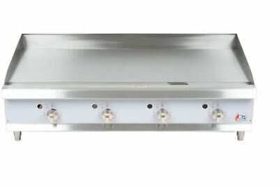 "Cooking Performance Group G48T 48"" Heavy-Duty Gas Countertop Griddle"
