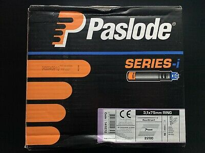 Paslode Series-i 2200x 3.1x75mm Ring Galv-Plus Nails *No Gas/Fuel Cells