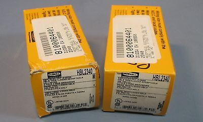 Lot of 2 Hubbell HBL2340 Twist-Lock Receptacle 20A, 480VAC, 2 Pole 3 Wire NIB