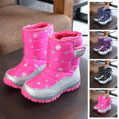 Kids Girls boots Children Toddlers Outdoor Winter Girls boots Round Toes