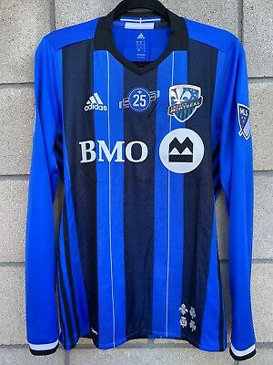 MENS ADIDAS MLS Montreal Impact Soccer Climalite Jersey Black Blue ...