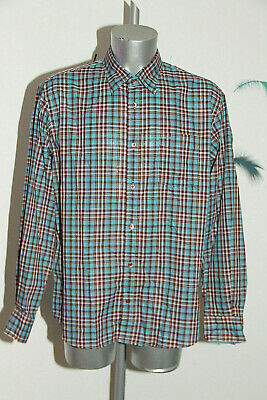 Pretty Shirt Blue Chequered Façonnable Jeans Size XL like New