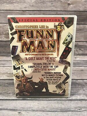 Funny Man DVD 2006 Special Edition Christopher Lee Horror Comedy