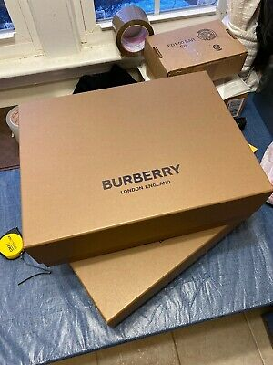 Authentic Burberry Empty Gift Box Brown 16.75x13x5