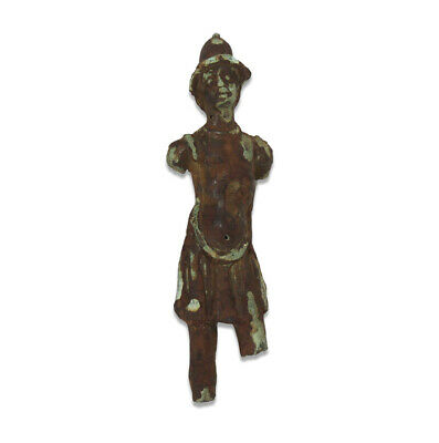 Post medieval statuette of a greek warrior bronze weapon armor legion army