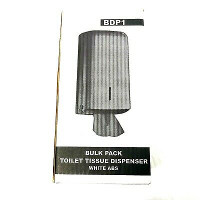 Bulk Pack Toilet Tissue Paper Dispensers x3 ABS Lockable White Wall Mounted