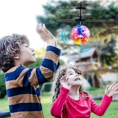 Flying Ball Infrared Induction Colorful LED IR Sensing RC Helicopter Flying Toy