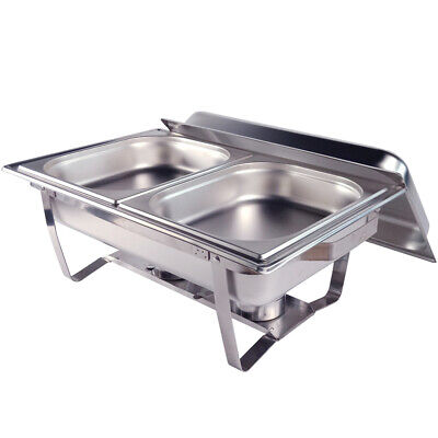 9L Food Chafing Dish Bain Marie Bow Stainless Steel Buffet  Warmer Stackable Set