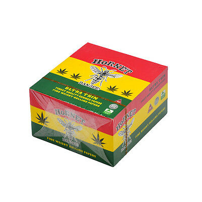 Hornet Natural King Size Reggae Ultra Thin Cigarette Rolling Papers 50 Booklets