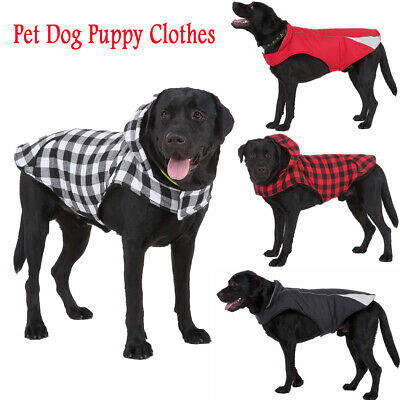 Winter Dog Coats Pet Cat Puppy Chihuahua Clothes Hoodie Warm for Large Dog S~XXL