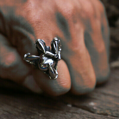 dragon claw Human heart ring unisex sterling silver gothic viking celtic snake