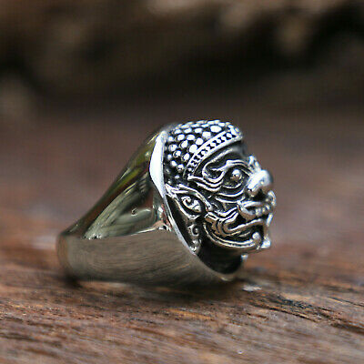 Ramayana monster ring unisex sterling silver hindo gothic viking celtic india
