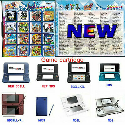 NEW 280 in 1 Combination Games Cartridge For NINTENDO 2DS/NDS/DSLITE/DSi/3DS/Xl