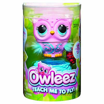 Owleez 6053359 Flying Baby Owl Interactive Toy With Lights And Sounds (Pink),