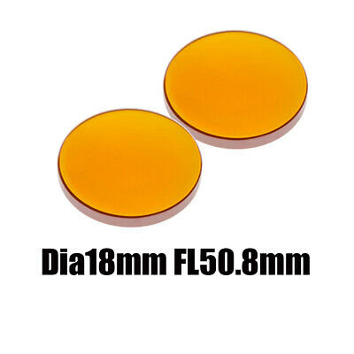 2PC ZnSe Dia 18mm Focal Length 50.8mm Co2 Laser Focus Lens for CO2 Machine 2inch
