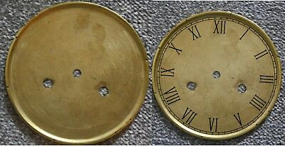"Vintage 5"" clock face/dial ""Thin"" Roman numeral number renovation wet transfer"